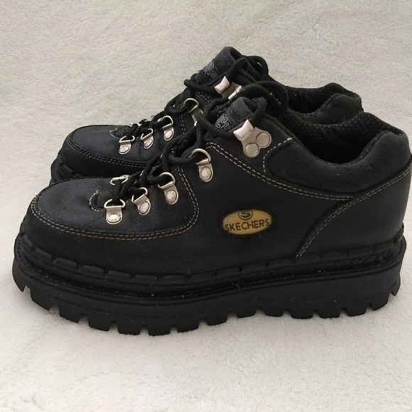 Skechers Leather Vintage Tough 90's Platform Soles kZOPiwXuT